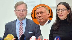 Petr Fiala i Alexandra Udženija (oba ODS) se vyjádřili ke kandidatuře Mirka Topolánka na prezidenta.