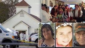 Oběti masakru v texaském kostelu