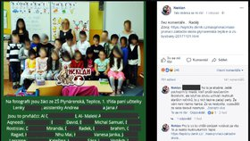 Třída plná teroristů! Fotka prvňáčků z Teplic rozzuřila sociální sítě, komentáře šetří policie.