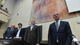 Debata prezidentských kandidátů na Právnické fakultě: Michal Horáček, Jiří Hynek, Marek Hilšer a Jiří Drahoš