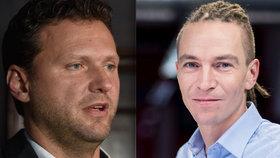 Kandidát na předsedu Sněmovny Radek Vondráček (ANO) a šéf Pirátů Ivan Bartoš