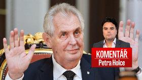 Petr Holec komentuje poprask kolem prezidentova zdraví.
