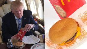Prezident Trump miluje burgery.
