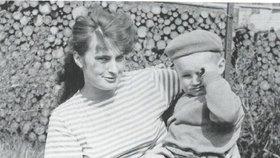 Jiří Kajínek s maminkou