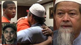Otec zavražděného donašeče pizzy odpustil vrahovi svého syna a u soudu ho objal.