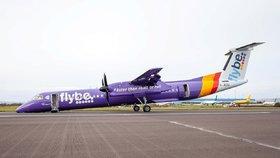 Letadlo přistálo v Belfastu i bez předního kola.