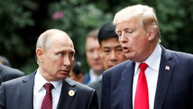 Prezidenti Ruska a USA Vladimir Putin a Donald Trump
