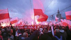 Pochod polských nacionalistů.