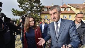 Andrej Babiš v Průhonicích během sněmovních voleb 2017