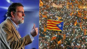 """""""Podvedli Katalánsko, lhali lidem"""": Španělský premiér promluvil o separatistech."""