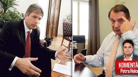 Bývalý brněnský primátor Roman Onderka a někdejší premiér a šéf ČSSD Jiří Paroubek