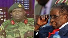 Mluvčí zimbavské armády generál Moyo informuje o situaci.