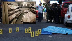 Kvůli zvýšené kriminalitě jsou v Mexiku přeplněné márnice.