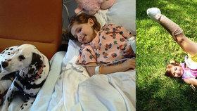 Emma McGraw přišla o obě nohy. Otec jí je usekl sekačkou na trávu.