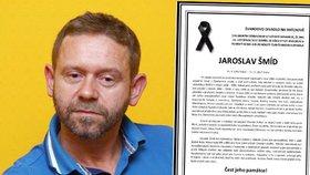 PŘÍMÝ PŘENOS: Pohřeb Jaroslava Šmída (†47), filmového Doktora od jezera hrochů!