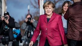 Angela Merkelová po dalším kole rozhovorů o nové vládě (17.11.2017)