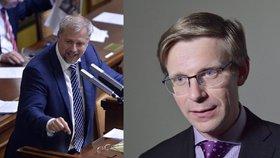 Bývalý ministr zemědělství Petr Bendl (vlevo) a starosta Líbeznic Martin Kupka (oba ODS)