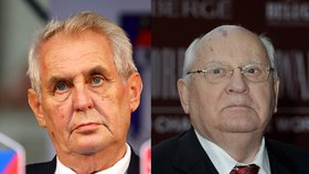 Český prezident Miloš Zeman a někdejší vůdce SSSR Michail Gorbačov