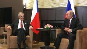 Zeman se 21. listopadu setkal v Soči s Putinem.