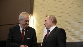 Miloš Zeman se v Soči setkal se svým ruským protějškem Vladimirem Putinem.