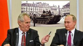 Český prezident v Rusku kritizoval článek, ve kterém se píše, že bychom měli být vděční za okupaci v roce 1968. Chce jasný distanc od představitelů federace.