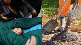 Japonka zalila svá novorozeňata do betonu. Neměla na jejich výchovu peníze. (Ilustrační foto)