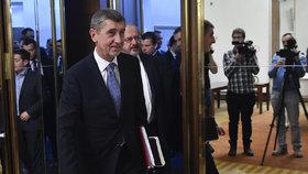 Andrej Babiš při volbě nového předsedy Sněmovny