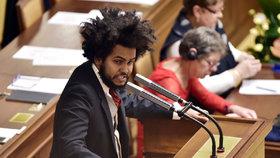 Dominik Feri na ustavující schůzi Sněmovny