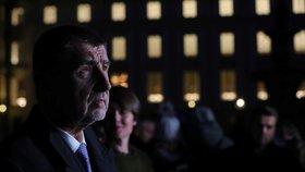 Šéf ANO Andrej Babiš po jednání s prezidentem Milošem Zemanem na Hradě
