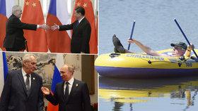 Prezident jezdil do zahraničí méně než jeho předchůdci.