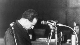 Rudolf Slánský během procesu.