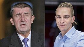 Mezi premiérem Andrejem Babišem (ANO, vlevo) a lídrem Pirátů Ivanem Bartošem už to zase vře. Tentokrát kvůli investičnímu plánu Česka