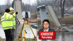 Lávka v pražské Troji se zřítila a komentátor Petr Holec se ptá, kdy začnou padat i mosty