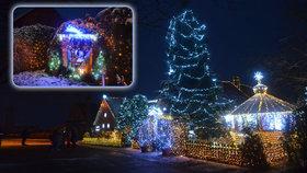 Toto je nejosvětlenější vánoční dům v Česku.
