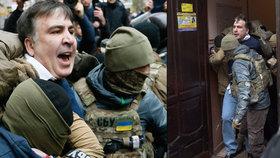 Gruzínského exprezidenta Saakašviliho zadržela na Ukrajině tajná policie.
