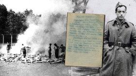 Historici rozluštili dopis vězně z Osvětimi.
