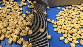 Výroba kuřecích polotovarů pro restaurace Mc Donalds probíhá v Maďarsku.