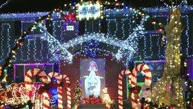Vánoční dekorace rodiny Strickerových