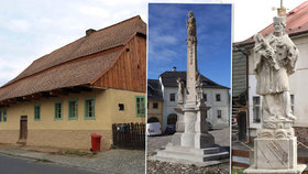 Plzeňský kraj vybral nej památku: Poslední měšťanský dům v Kdyni a mariánský sloup v Úterý