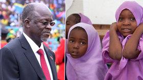 Prezident Tanzanie propustil násilníky. Vláda vydala příkaz zatýkání těhotných školaček (ilustrační foto).