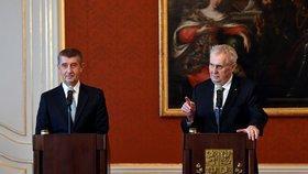 Prezident Miloš Zeman jmenoval vládu Andreje Babiše (13. prosince 2017)
