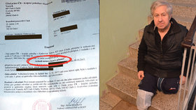 Vladimír bydlí ve druhém patře v domě bez výtahu. Do svého bytu by se musel sunout po rukách.