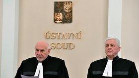 Ústavní soud s odloženou platností škrtl několik paragrafů zákona o evidenci tržeb. S návrhem na zrušení celé normy o EET pravicoví poslanci neuspěli