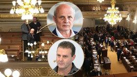 Prezidentský kandidát Michal Horáček ve Sněmovně na jednání o Zdeňku Ondráčkovi