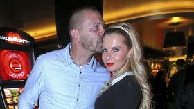 Tomáš Řepka s Kateřinou Kristelovou v kasínu