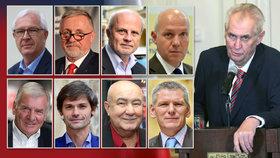 Prezident Miloš Zeman má v lednové volbě hlavy státu osm vyzyvatelů.