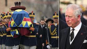 Princ Charles přijel na pohřeb bývalého rumunského krále.