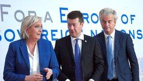 Marine Le Penová, Tomio Okamura, Geert Wilders