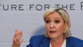 Marine Le Pen v Praze
