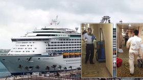 Vánoční hororová plavba: Přes 300 pasažérů na palubě luxusní lodi dostalo žaludeční problémy.